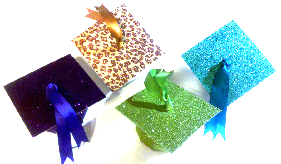 {Glitter & Glam} Graduation Cap Favor Boxes ... Smarties Box Design